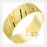 Snubní prsteny LSP 1973 žluté zlato