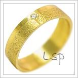 Snubní prsteny LSP 1976 žluté zlato