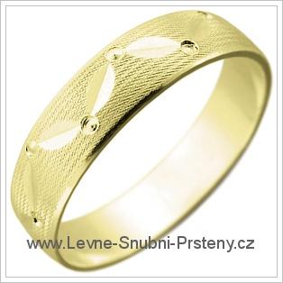 Snubní prsteny LSP 1977 žluté zlato
