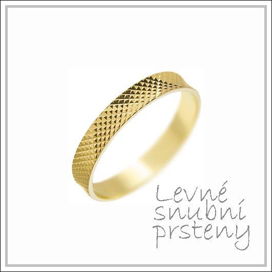 Snubní prsteny LSP 1979 žluté zlato