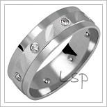 Snubní prsteny LSP 1980bz bílé zlato