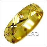 Snubní prsteny LSP 1982 žluté zlato s diamanty