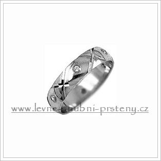 Snubní prsteny LSP 1982b bílé zlato