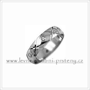Snubní prsteny LSP 1982bz bílé zlato
