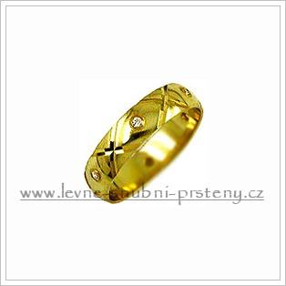 Snubní prsteny LSP 1982z žluté zlato se zirkony