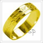 Snubní prsteny LSP 1985 žluté zlato