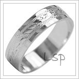 Snubní prsteny LSP 1985b bílé zlato