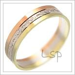 Snubní prsteny LSP 1986 kombinované zlato