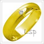 Snubní prsteny LSP 1987 žluté zlato