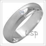Snubní prsteny LSP 1987b bílé zlato