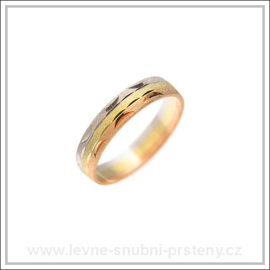 Snubní prsteny LSP 1988 kombinované zlato