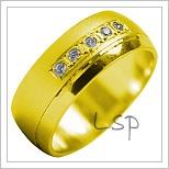 Snubní prsteny LSP 1989 žluté zlato