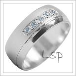 Snubní prsteny LSP 1989b bílé zlato
