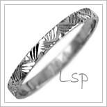 Snubní prsteny LSP 1991b bílé zlato