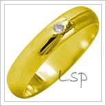 Snubní prsteny LSP 1992 žluté zlato
