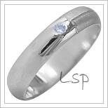 Snubní prsteny LSP 1992b bílé zlato