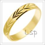 Snubní prsteny LSP 1993 žluté zlato