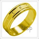 Snubní prsteny LSP 1995 žluté zlato