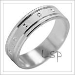Snubní prsteny LSP 1995b bílé zlato