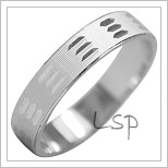 Snubní prsteny LSP 1997b bílé zlato
