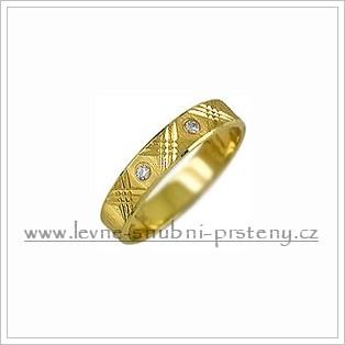 Snubní prsteny LSP 1998 žluté zlato s diamanty