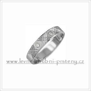 Snubní prsteny LSP 1998b bílé zlato