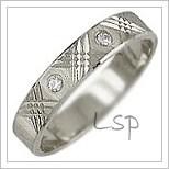 Snubní prsteny LSP 1998bz bílé zlato