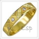 Snubní prsteny LSP 1998z žluté zlato se zirkony