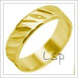 Snubní prsteny LSP 1999 žluté zlato