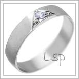 Snubní prsteny LSP 2000 bílé zlato