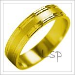 Snubní prsteny LSP 2001 žluté zlato