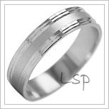 Snubní prsteny LSP 2001b bílé zlato