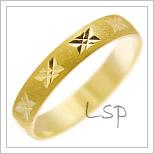 Snubní prsteny LSP 2002 žluté zlato