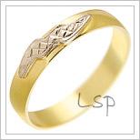 Snubní prsteny LSP 2004 žluté zlato