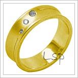 Snubní prsteny LSP 2005 žluté zlato