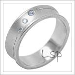 Snubní prsteny LSP 2005b bílé zlato