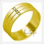 Snubní prsteny LSP 2007 žluté zlato