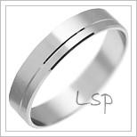 Snubní prsteny LSP 2008 bílé zlato