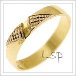 Snubní prsteny LSP 2012 žluté zlato