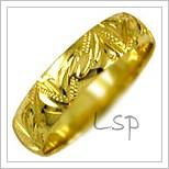 Snubní prsteny LSP 2014 žluté zlato