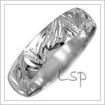 Snubní prsteny LSP 2014b bílé zlato