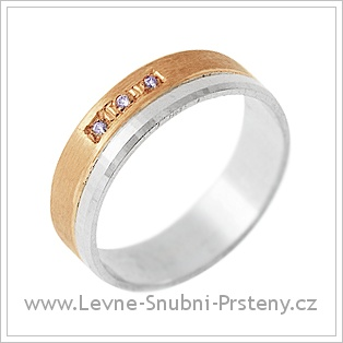 Snubní prsteny LSP 2015 - kombinované zlato