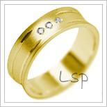 Snubní prsteny LSP 2016 žluté zlato