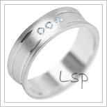 Snubní prsteny LSP 2016b bílé zlato