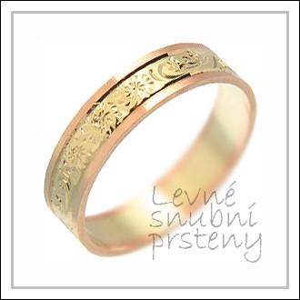 Snubní prsteny LSP 2017 kombinované zlato