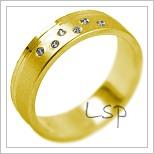 Snubní prsteny LSP 2018 žluté zlato