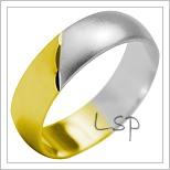 Snubní prsteny LSP 2020k kombinované zlato