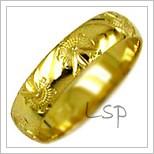 Snubní prsteny LSP 2023 žluté zlato