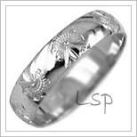 Snubní prsteny LSP 2023b bílé zlato