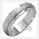 Snubní prsteny LSP 2024b bílé zlato
